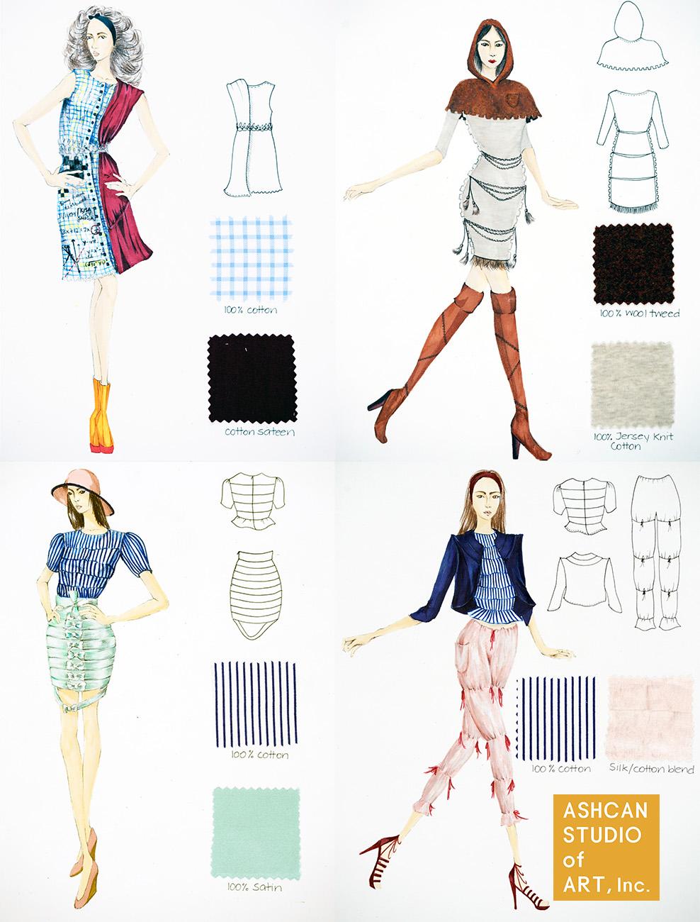 Pre College Summer Program Fashion Illustration Ashcan